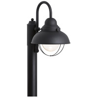 Sea Gull 826993S-12 Sebring LED 16 inch Black Post Lantern
