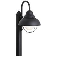 Sea Gull 826993S-12 Sebring LED 16 inch Black Post Lantern