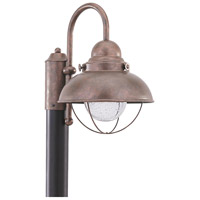 Sea Gull 826993S-44 Sebring LED 16 inch Weathered Copper Post Lantern