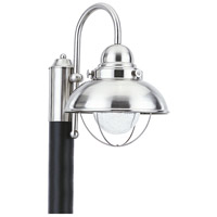 Sea Gull 826993S-98 Sebring LED 16 inch Brushed Stainless Post Lantern