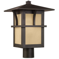Sea Gull Lighting Medford Lakes 1 Light Outdoor Post Lantern in Statuary Bronze 82880-51