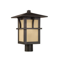 Sea Gull 82880EN3-51 Medford Lakes 1 Light 16 inch Statuary Bronze Post Lantern