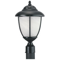 Yorktowne 1 Light 17 inch Black Outdoor Post Lantern in Standard