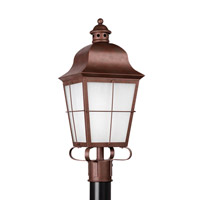 Sea Gull 82973-44 Chatham 1 Light 23 inch Weathered Copper Outdoor Post Lantern