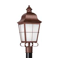 Sea Gull 82973EN3-44 Chatham 1 Light 23 inch Weathered Copper Post Lantern