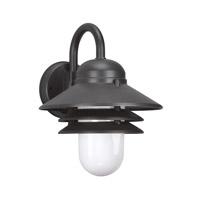 Sea Gull 83055EN3-12 Polycarbonate 1 Light 13 inch Black Outdoor Wall Lantern