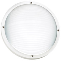 Bayside 1 Light 5 inch White Outdoor Wall Lantern in Fluorescent