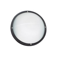 Sea Gull 83057EN3-12 Bayside 1 Light 5 inch Black Outdoor Wall Ceiling Flush Mount