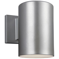 Sea Gull 8313801-753 Bullets 1 Light 7 inch Painted Brushed Nickel Outdoor Wall Sconce