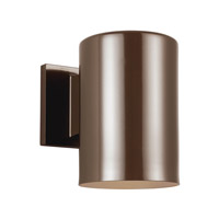Sea Gull 8313801EN3-10 Cylinders 1 Light 7 inch Bronze Outdoor Wall Lantern