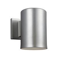 Sea Gull 8313801EN3-753 Cylinders 1 Light 7 inch Painted Brushed Nickel Outdoor Wall Lantern