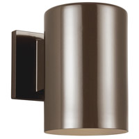 Sea Gull 8313897S-10 Cylinders LED 7 inch Bronze Outdoor Wall Lantern