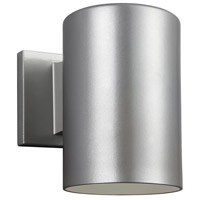 Cylinders LED 7 inch Painted Brushed Nickel Outdoor Wall Lantern
