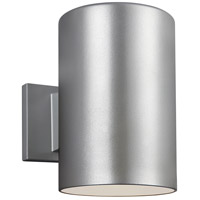 Sea Gull 8313901-753 Bullets 1 Light 9 inch Painted Brushed Nickel Outdoor Wall Sconce