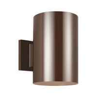 Sea Gull 8313901EN3-10 Cylinders 1 Light 9 inch Bronze Outdoor Wall Lantern
