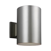 Sea Gull 8313901EN3-753 Cylinders 1 Light 9 inch Painted Brushed Nickel Outdoor Wall Lantern