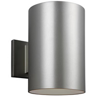 Cylinders LED 9 inch Painted Brushed Nickel Outdoor Wall Lantern
