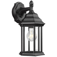 Sea Gull 8338701-12 Sevier 1 Light 13 inch Black Outdoor Wall Lantern