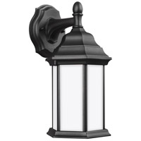 Sea Gull 8338751-12 Sevier 1 Light 13 inch Black Outdoor Wall Lantern