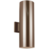 Sea Gull Lighting Outdoor Bullets 2 Light Outdoor Wall Lantern in Bronze 8341-10