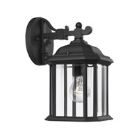 Sea Gull Lighting Kent 1 Light Outdoor Wall Lantern in Black 84029-12