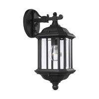 Sea Gull Lighting Kent 1 Light Outdoor Wall Lantern in Black 84030-12
