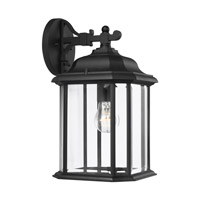 Sea Gull 84031-12 Kent 1 Light 15 inch Black Outdoor Wall Lantern