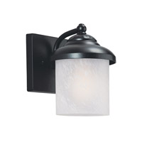 Sea Gull 84048-12 Yorktown 1 Light 9 inch Black Outdoor Wall Lantern
