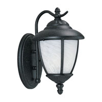 Sea Gull 84049-185 Yorktowne 1 Light 13 inch Forged Iron Outdoor Wall Lantern