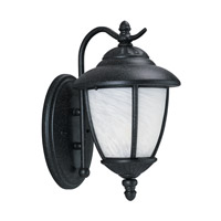 Yorktown 1 Light 13 inch Forged Iron Outdoor Wall Lantern