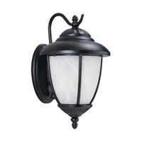 Sea Gull 84049P-12 Yorktown 1 Light 13 inch Black Outdoor Wall Lantern