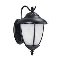 Sea Gull 84049PEN3-12 Yorktown 1 Light 13 inch Black Outdoor Wall Lantern