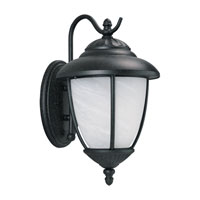 Sea Gull 84050-185 Yorktowne 1 Light 16 inch Forged Iron Outdoor Wall Lantern