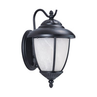 Sea Gull 84050P-12 Yorktown 1 Light 16 inch Black Outdoor Wall Lantern