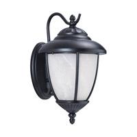 Sea Gull 84050PEN3-12 Yorktown 1 Light 16 inch Black Outdoor Wall Lantern