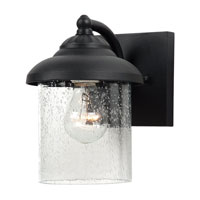 Sea Gull 84068-12 Lambert Hill 1 Light 9 inch Black Outdoor Wall Lantern photo thumbnail