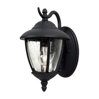 Sea Gull Lighting Lambert Hill 1 Light Outdoor Wall Lantern in Black 84069-12