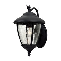 Sea Gull Lighting Lambert Hill 1 Light Outdoor Wall Lantern in Black 84070-12