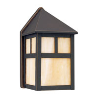 Sea Gull Lighting Prairie Statement 1 Light Outdoor Wall Lantern in Antique Bronze 8408-71 photo thumbnail