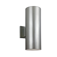 Bullets 14 inch Painted Brushed Nickel Outdoor Wall Lantern