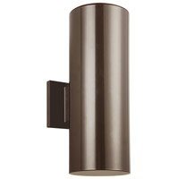 Sea Gull 8413897S-10 Cylinders LED 14 inch Bronze Outdoor Wall Lantern