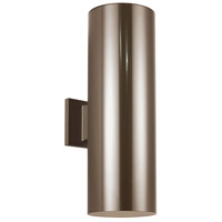 Sea Gull 8413997S-10 Cylinders LED 18 inch Bronze Outdoor Wall Lantern