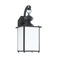 Sea Gull 84158DEN3-12 Jamestowne 1 Light 17 inch Black Outdoor Wall Lantern