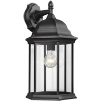 Sea Gull 8438701-12 Sevier 1 Light 19 inch Black Outdoor Wall Lantern