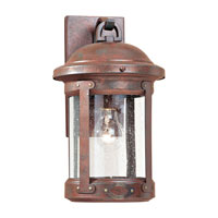 Sea Gull 8440-44 HSS CO-OP 1 Light 14 inch Weathered Copper Outdoor Wall Lantern photo thumbnail