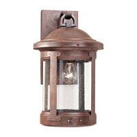 HSS CO-OP 1 Light 18 inch Weathered Copper Outdoor Wall Lantern