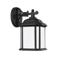 Kent 1 Light 12 inch Black Outdoor Wall Lantern in Fluorescent