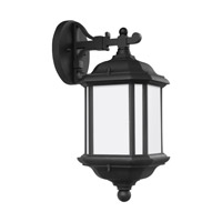 Sea Gull 84530-12 Kent 1 Light 15 inch Black Outdoor Wall Lantern