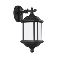 Sea Gull 84530EN3-12 Kent 1 Light 15 inch Black Outdoor Wall Lantern