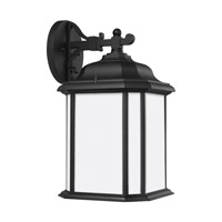 Sea Gull 84531-12 Kent 1 Light 15 inch Black Outdoor Wall Lantern